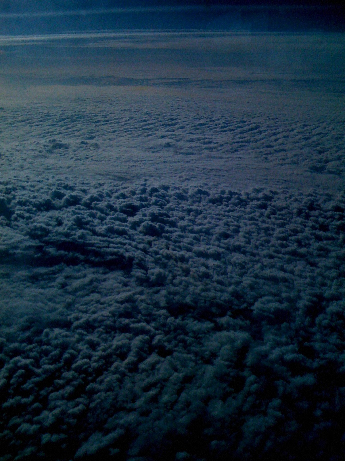 the clouds are inside the flight