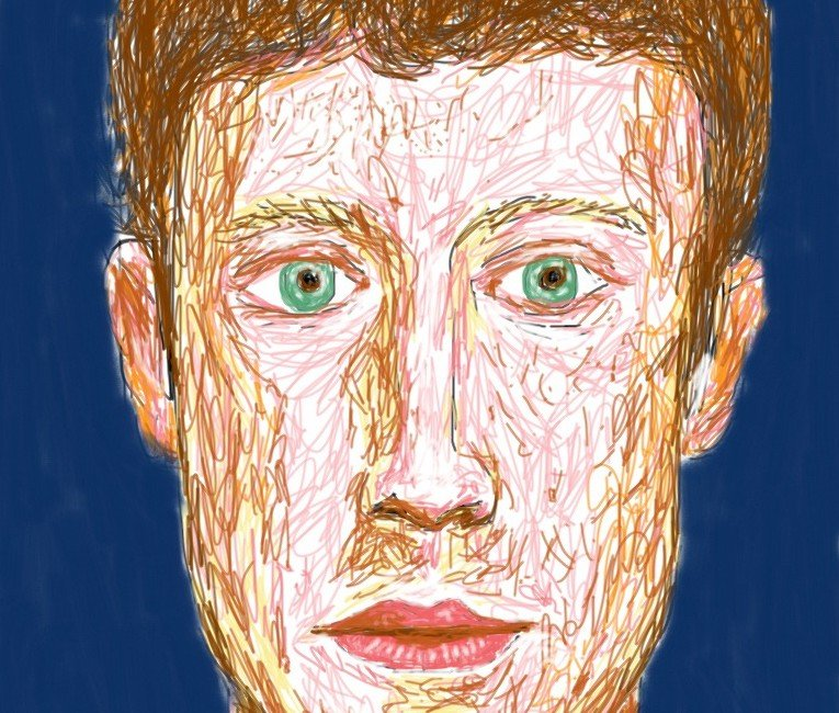 Mark Zuckerberg iPad Drawing DinisGuarda