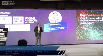Dinis Guarda - Keynote Presenation at World AI Show Mauritius 2018.